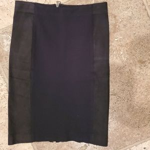 Alice + Olivia Black Pencil Skirt - Size 12